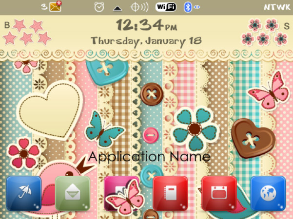 <b>free Elegant Blackberry Theme</b>