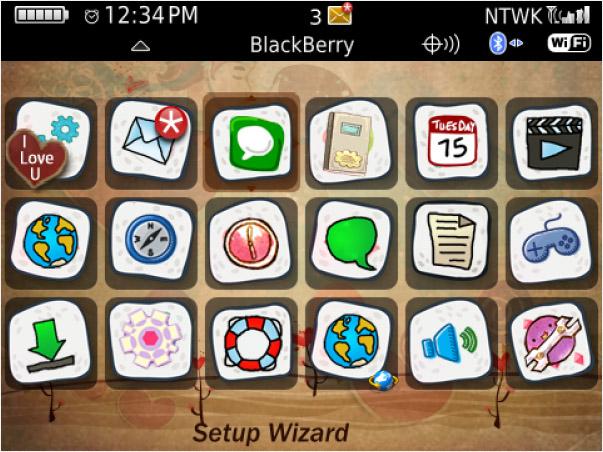 Joyful Day Cute Love theme - free blackberry themes download