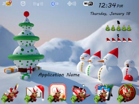 3d christmas celebrations for 99xx blackberry