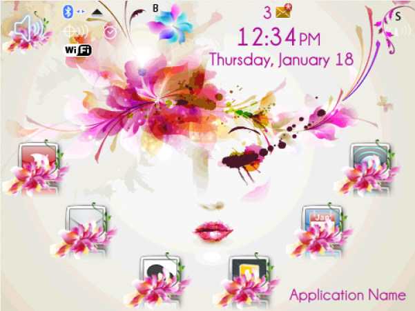 Floral Fairy 1.0 for blackberry themes