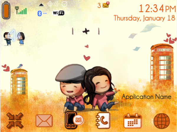 Happy Couple v1.0 for blackberry themes