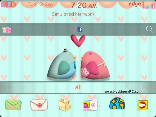 free Winsome Birds 99xx blackberry models theme