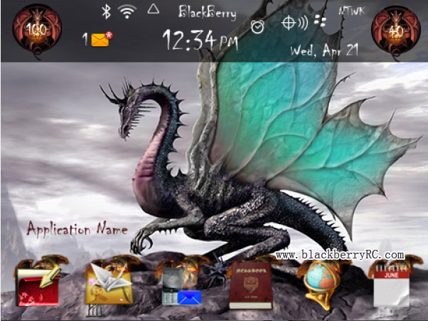 Dragon Fantasy for blackberry theme