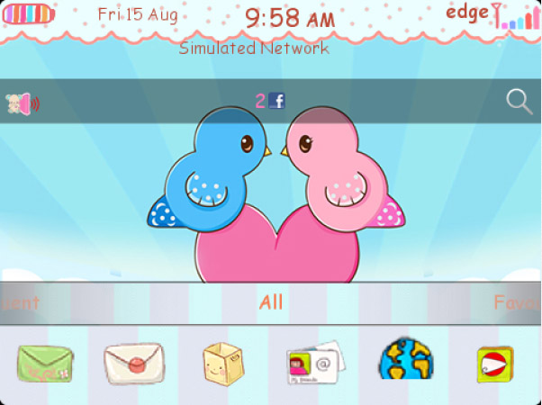 In love - Cute Little birds blackberry theme