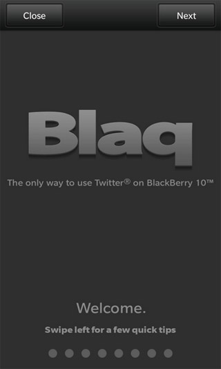 Blaq for BlackBerry 10 Apps