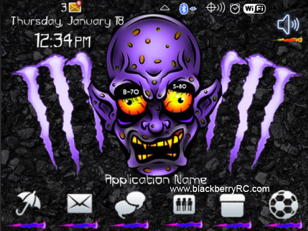 Monster in purple color 99xx bold theme