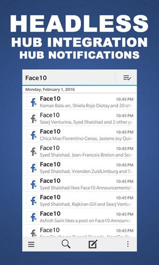 Face10 v1 3 410 1 for Facebook - free blackberry apps download