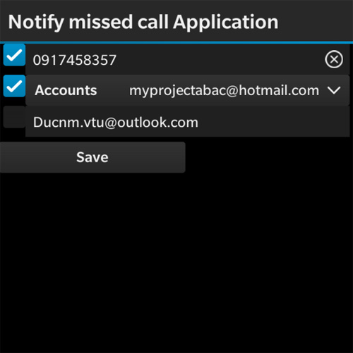<b>Notify Missed Call Application v 1.0.1.1</b>