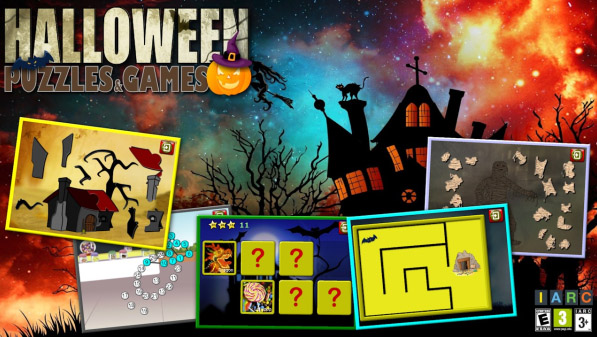 Kids Halloween Puzzles and Logic Games