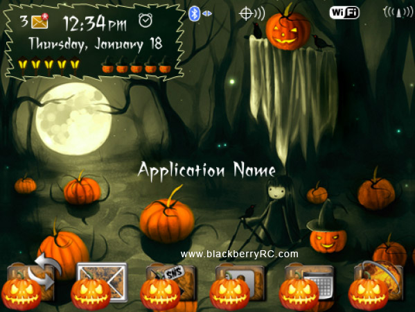 <b>Spooky Halloween Blackberry Theme</b>