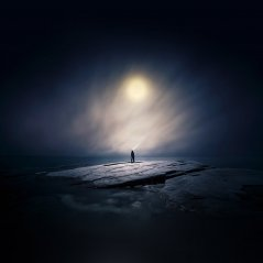 <b>moonlight night dark 1440X1440 wallpaper</b>