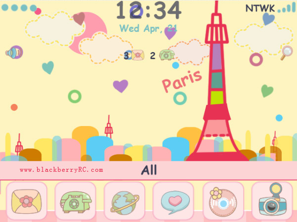 <b>free Cute Doodle Paris blackberry themes</b>