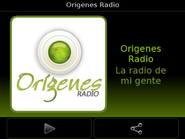 Origenes Radio 3.8.10 for blackberry apps
