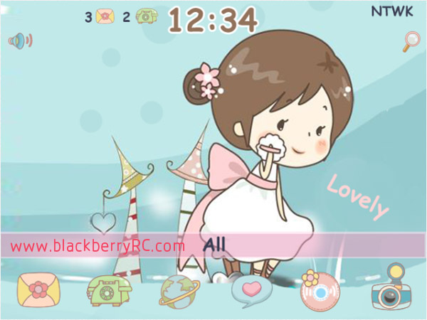 <b>free Cute Doodle Make Up blackberry theme</b>