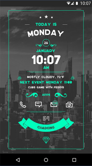 <b>Zooper Widget for blackberry keyone desktop theme</b>
