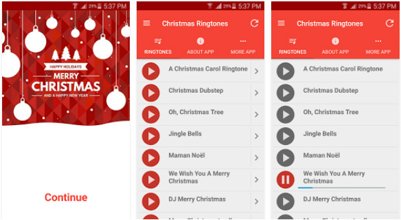 Christmas Ringtones for android apps