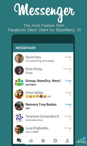 Messenger v17 0 101 1 for Facebook blackberry 10 apps - free